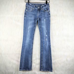 Miss Me Boot Cut Distressed Jeans Size 25